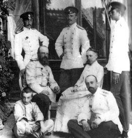 Великий князь Михаил Николаевич с супругой и детьми
